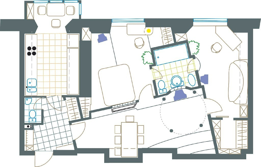 Layout: Rent Elite Flat, Subway Sportivnaja
