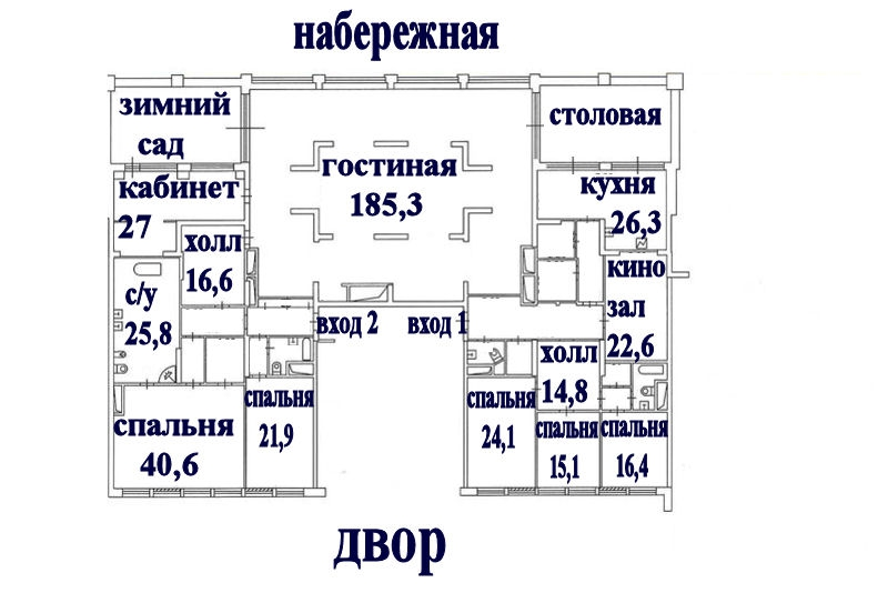 Layout: Rent Elite Flat, Subway Shhukinskaja