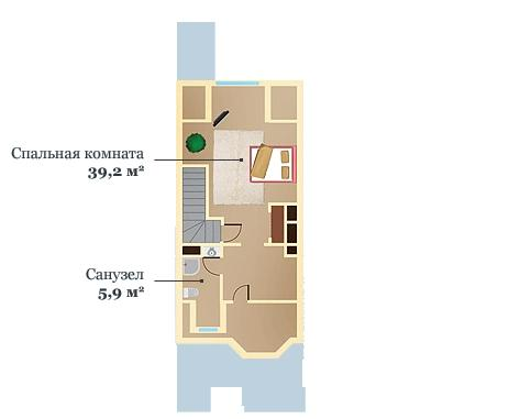 Layout: Sale Elite Townhouse, Angelovo