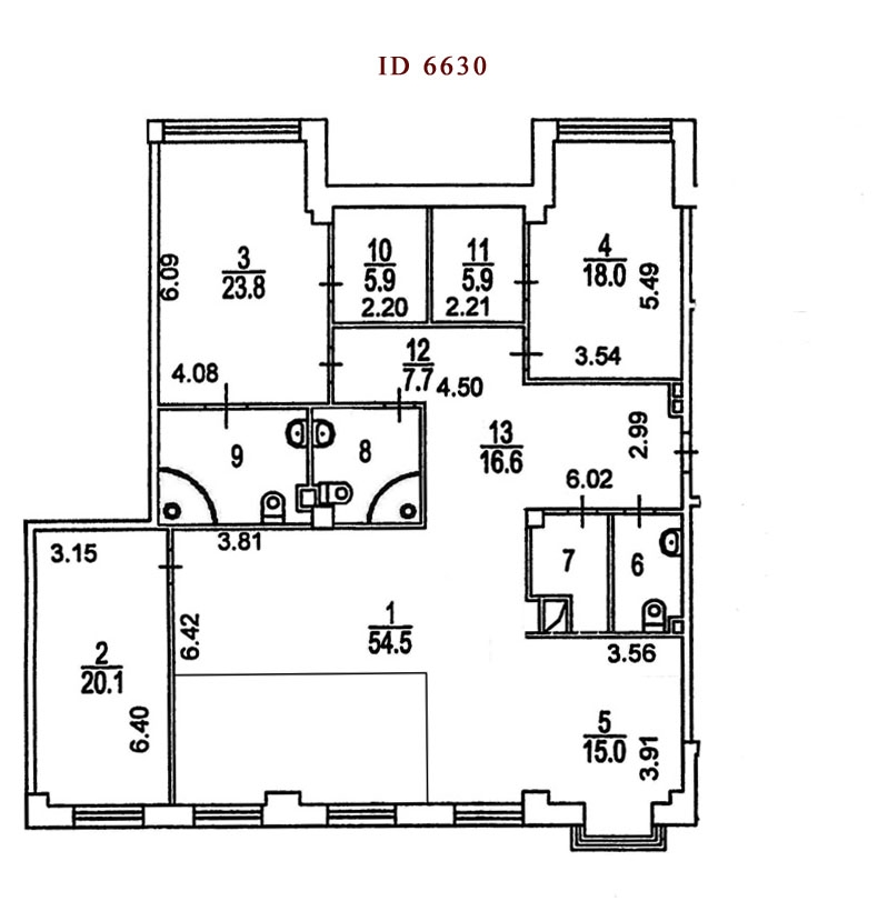 Layout: Rent Elite Flat, Subway Smolenskaja