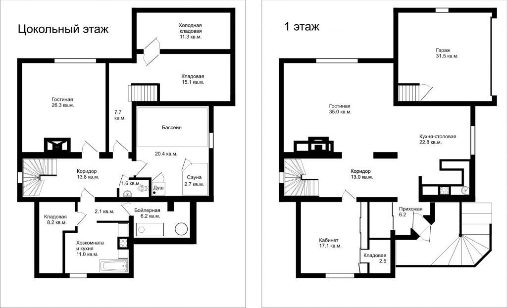 Layout: Rent Elite House, Novogorsk